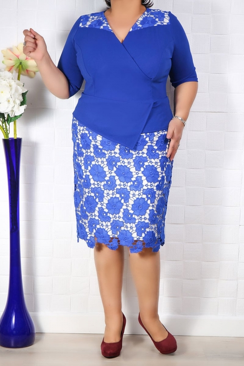 Rochie de ocazie Crina Albastru