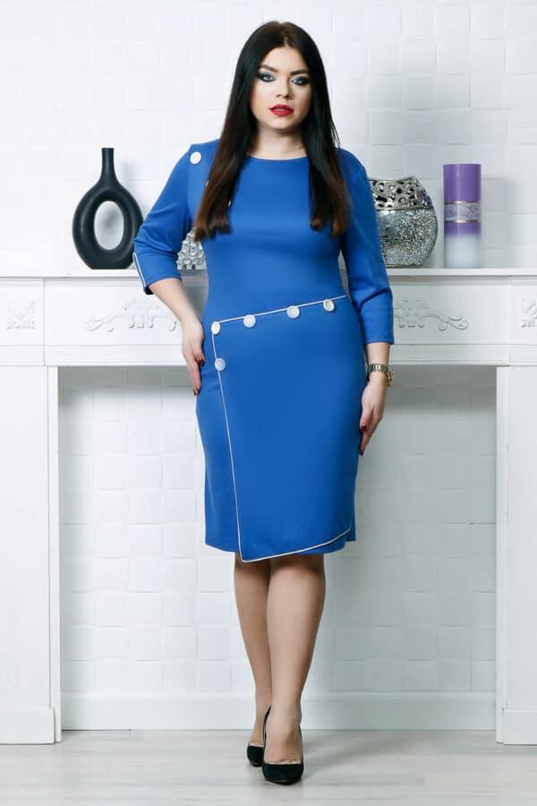 Rochie accesorizata cu nasturi electric