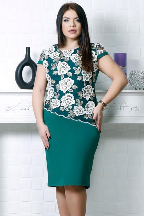 Rochie eleganta Ela Verde Intens