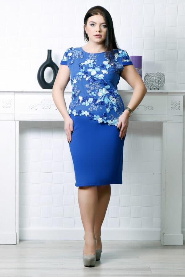 Rochie eleganta Ela Albastru Electric