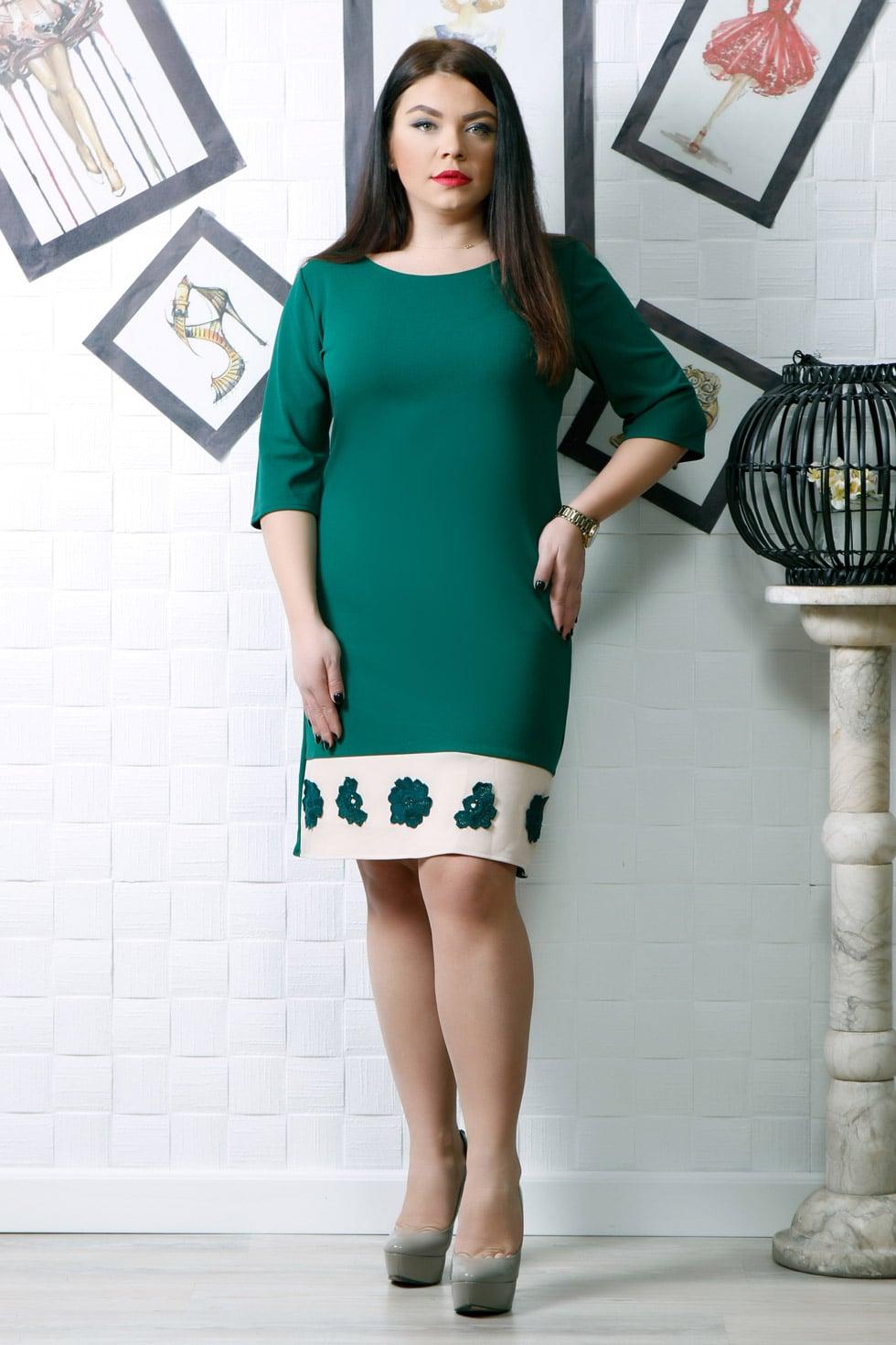 Rochie de zi Elvira verde