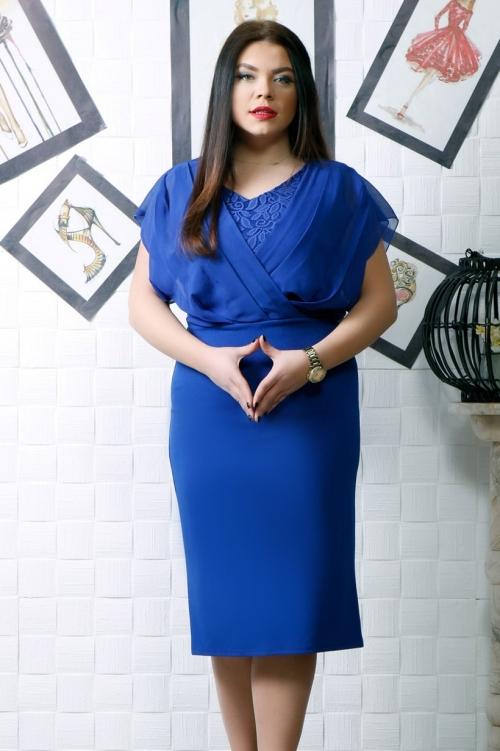 Rochie de ocazie Rebeca Albastru