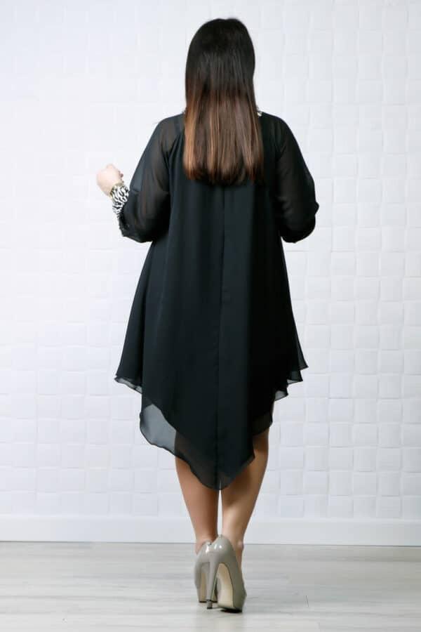 Rochie din voal asimetrica negru