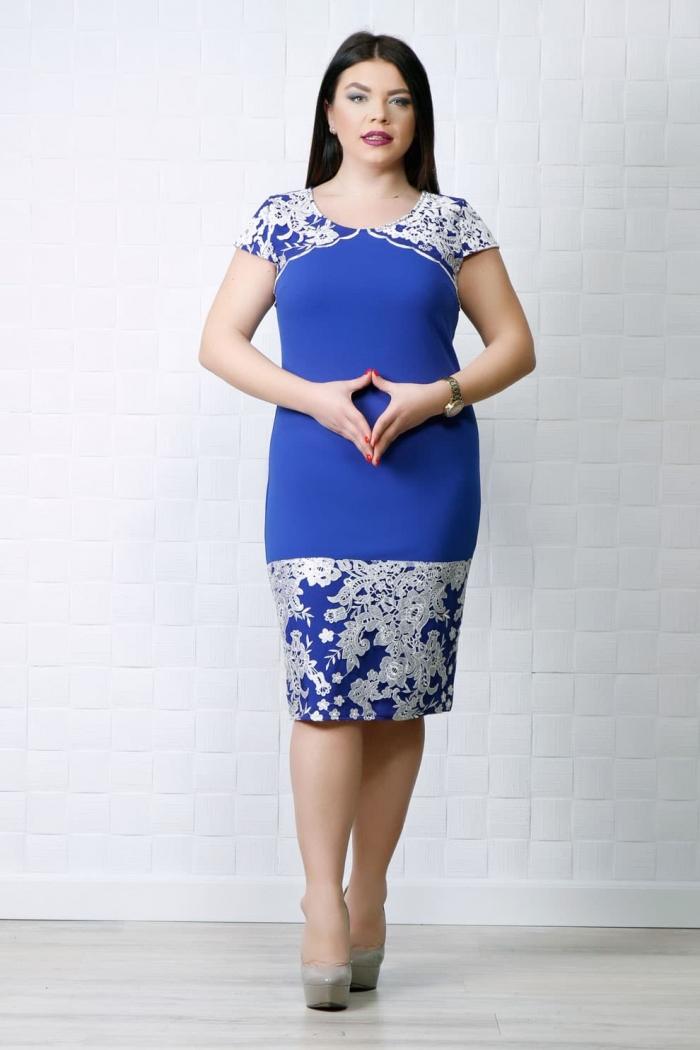 Rochie eleganta Rina Albastru MG 0089