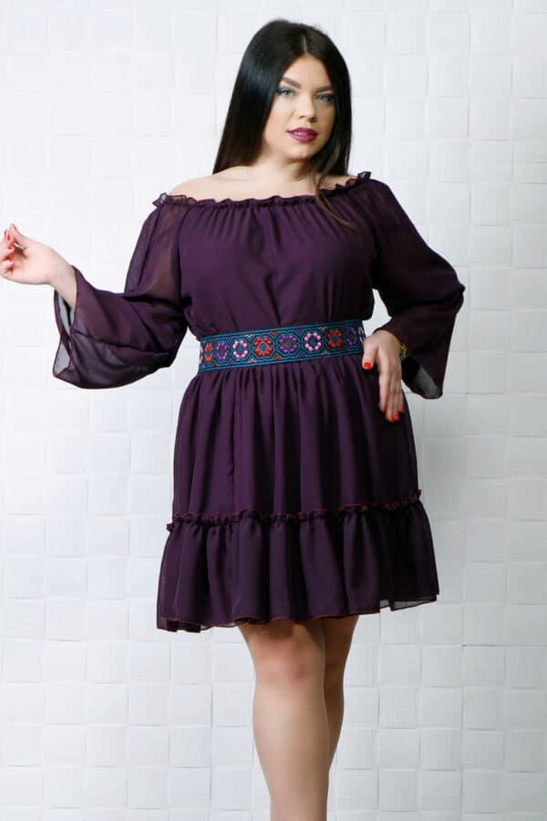 Rochie eleganta de voal Dora