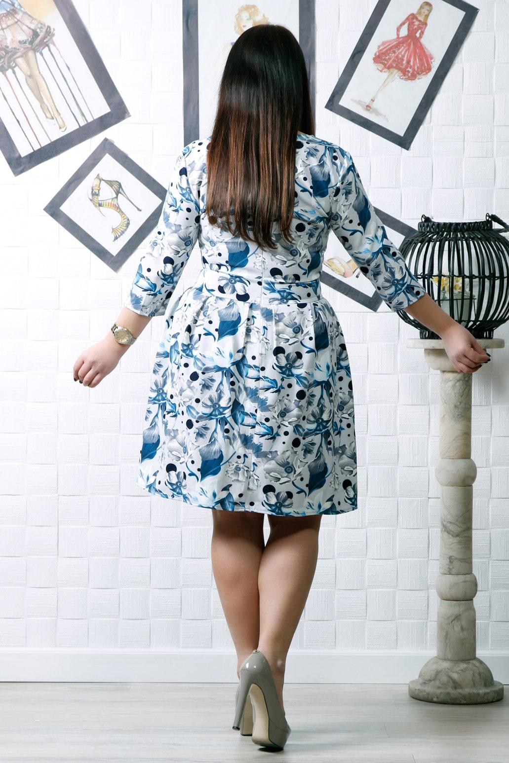 Rochie eleganta Ramia Blue Floral