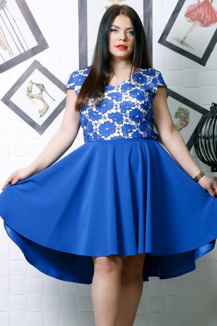 Rochie de ocazie Daria Albastru