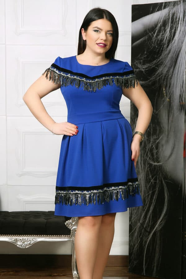 Rochie de ocazie Riona Albastru