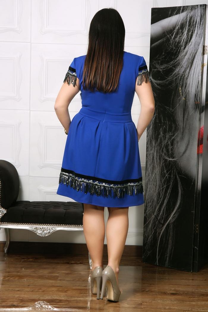 Rochie de ocazie Riona Albastru IMG 0492