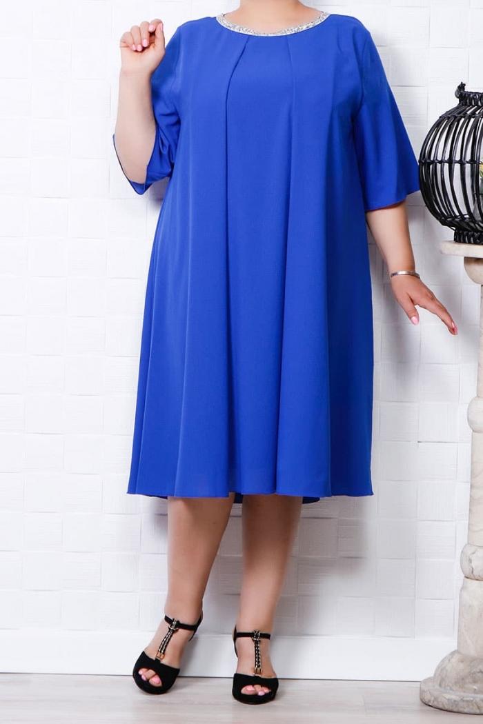 Rochie din voal Olga albastru