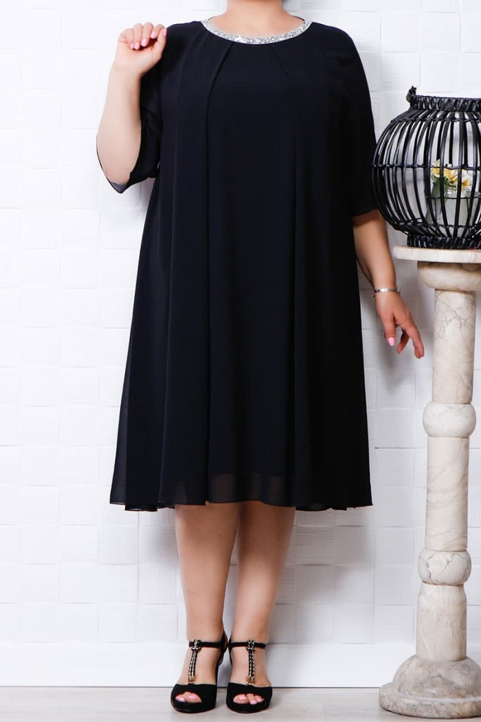 Rochie din voal Olga negru