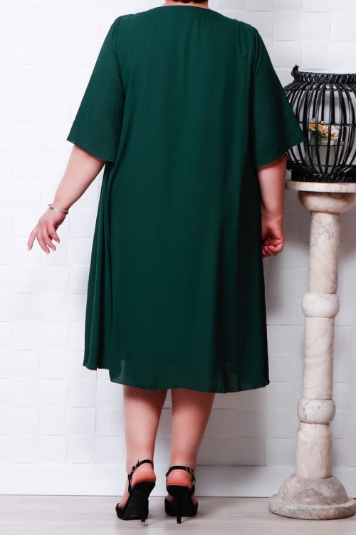 Rochie din voal Olga verde