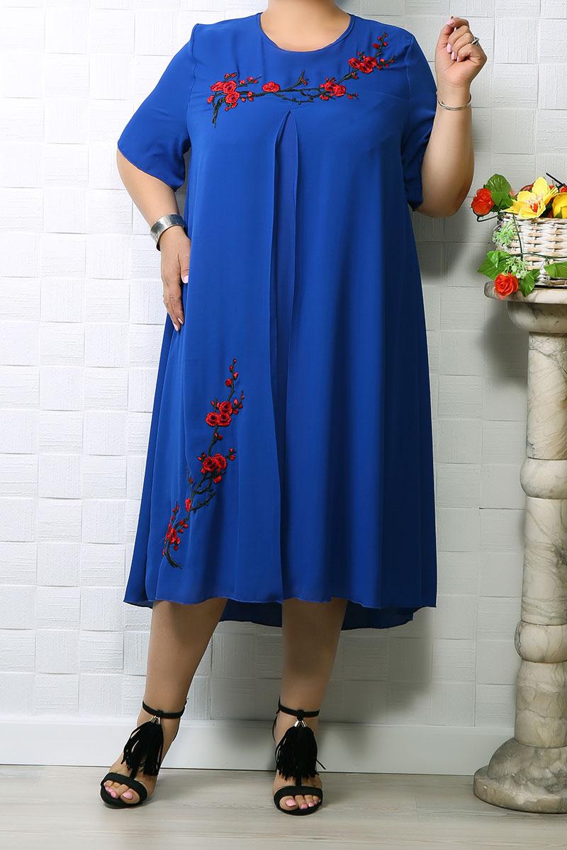 Rochie din voal Lina Albastru