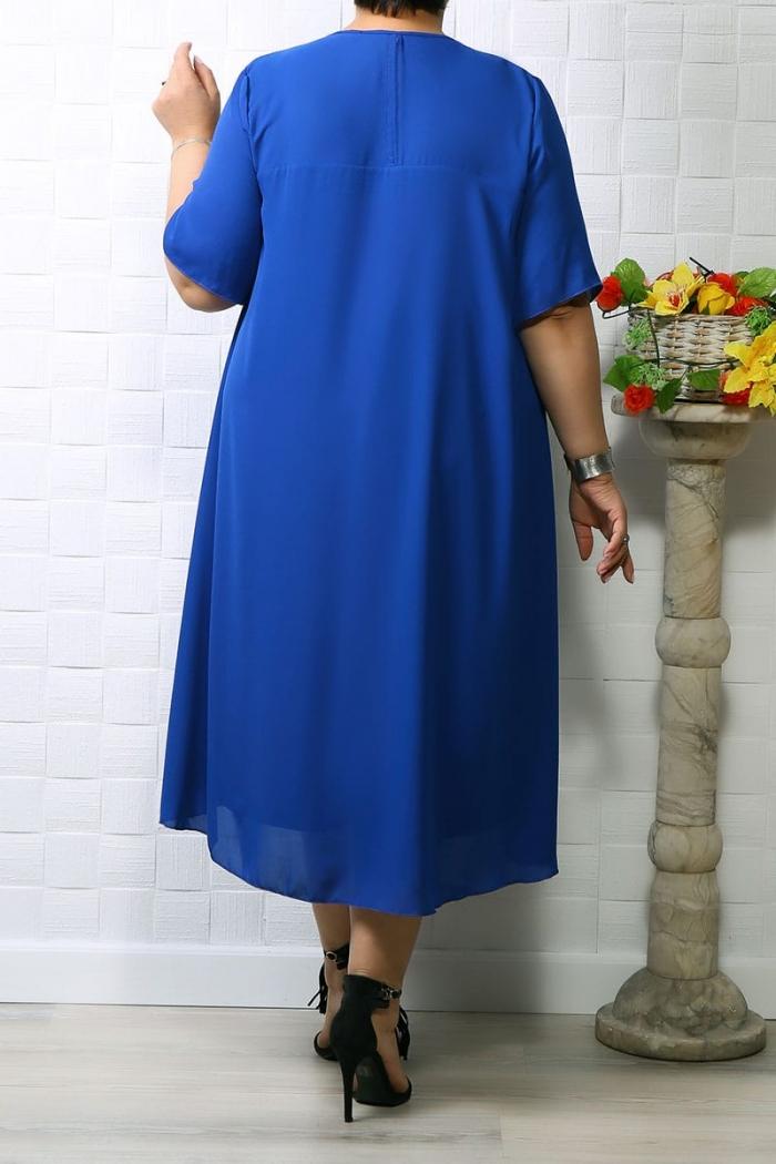 Rochie din voal Lina Albastru img 0753