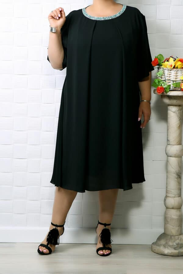 Rochie din voal Eva Negru