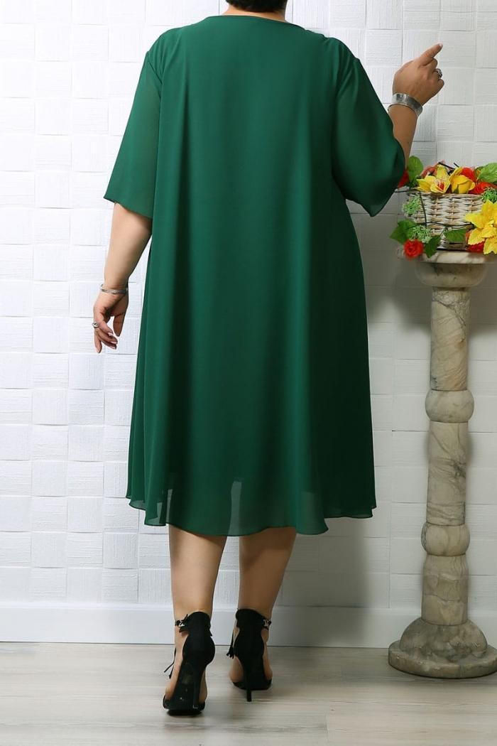 Rochie din voal Eva Verde