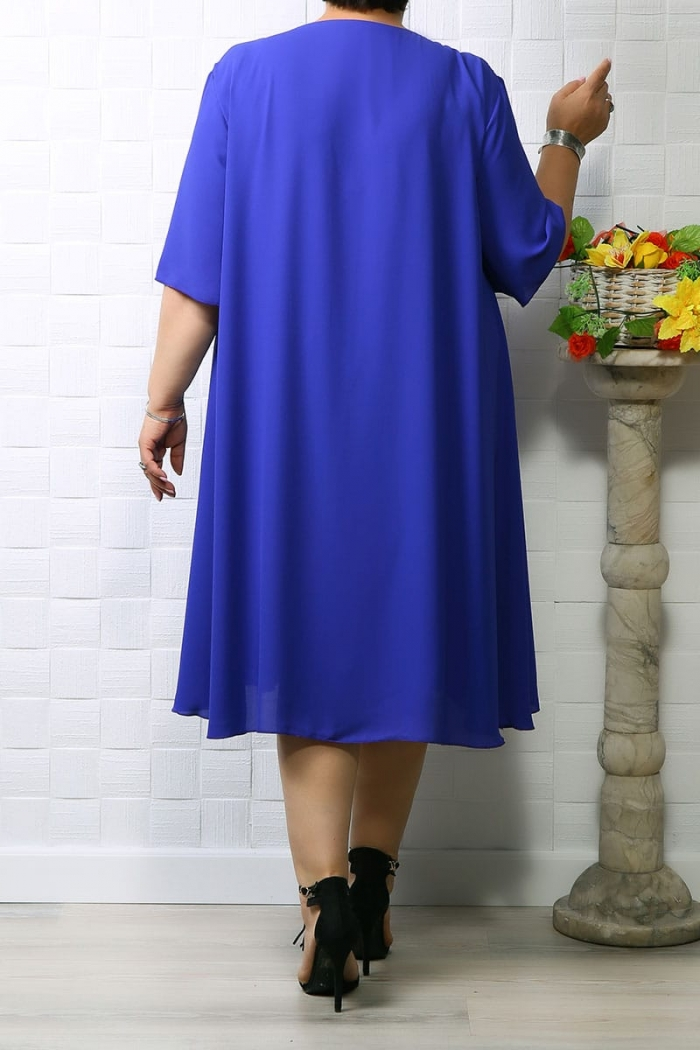 Rochie din voal Eva Albastru