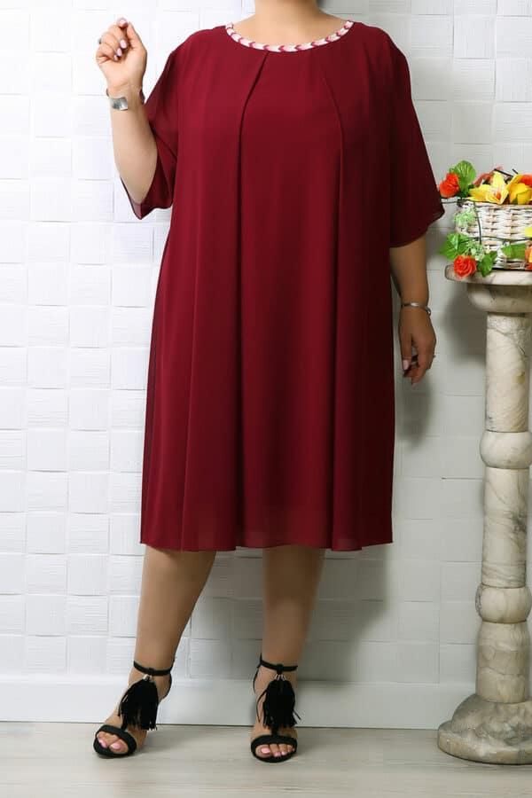 Rochie din voal Ania Bordo