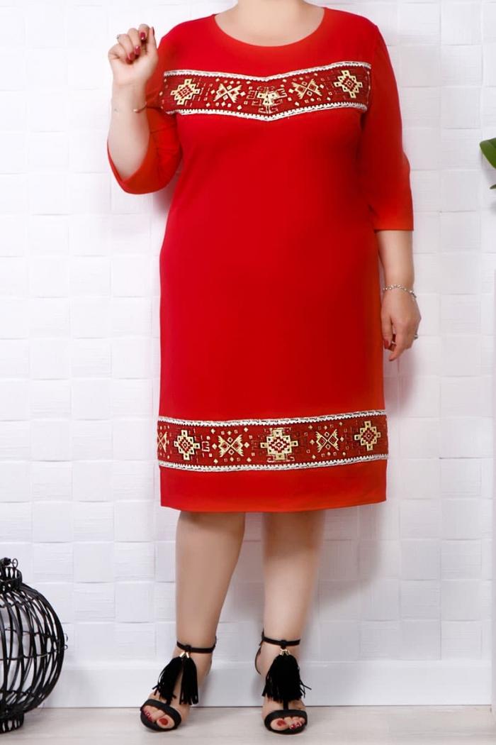 Rochie traditionala Mia Rosu