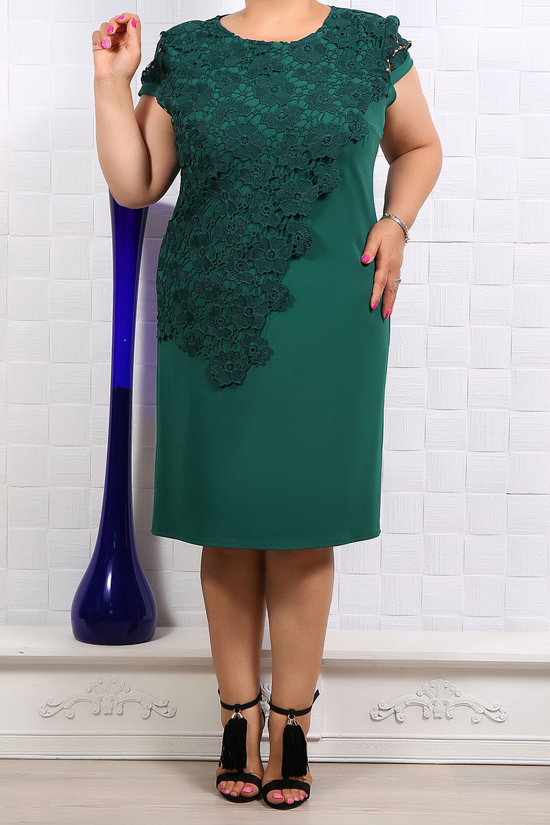 Rochie eleganta Gabriela Verde Inchis