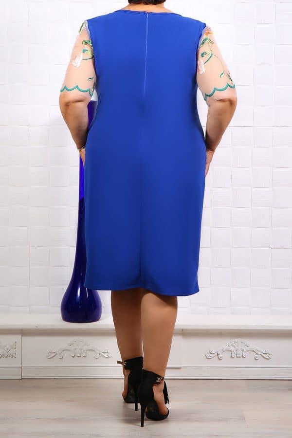 Rochie Ocazie Valeria Albastru Floral