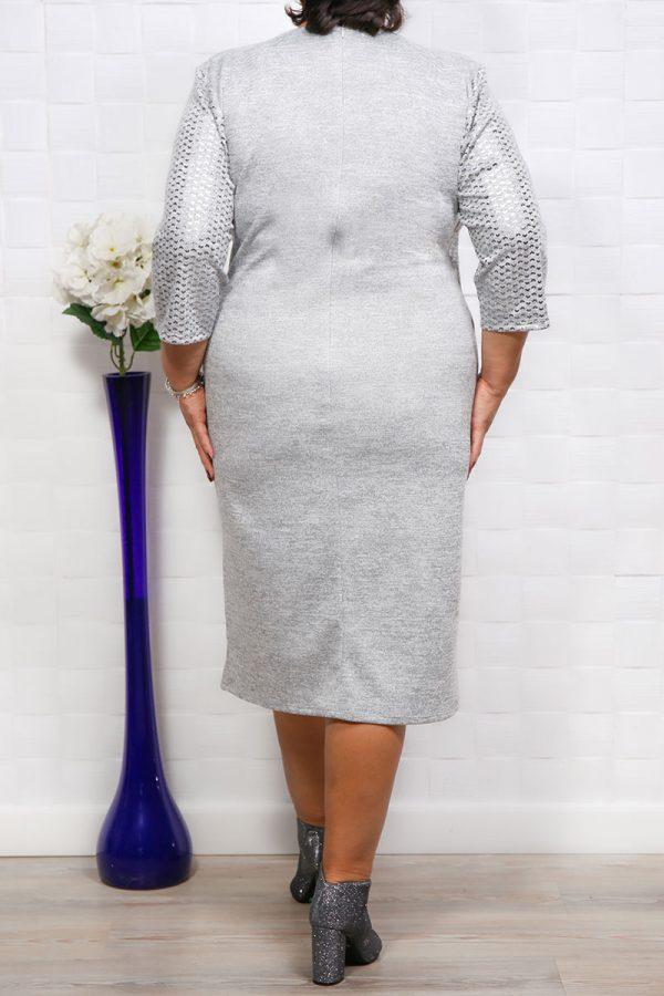 Rochie stil Compleu Afrodita Argintiu