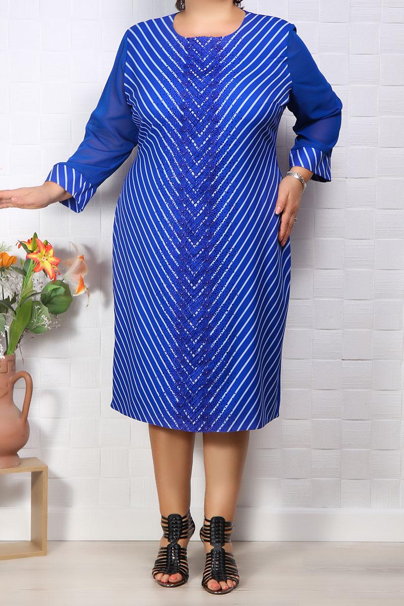 Rochie de ocazie Fenix Albastru