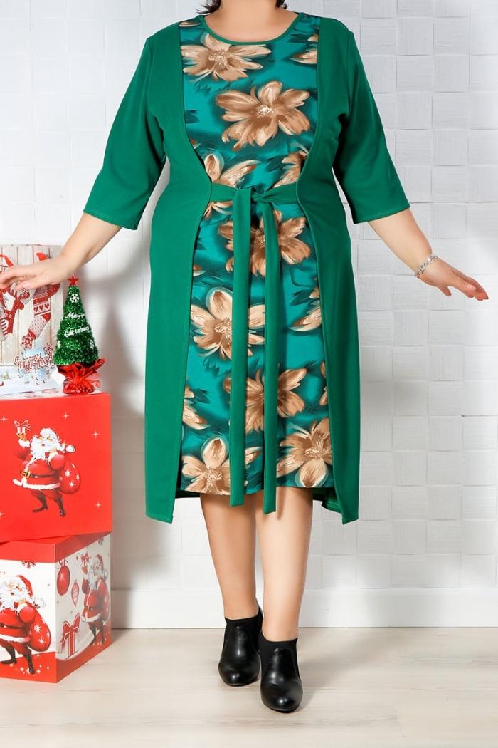 Rochie de zi Carla Verde Floral IMG 9834