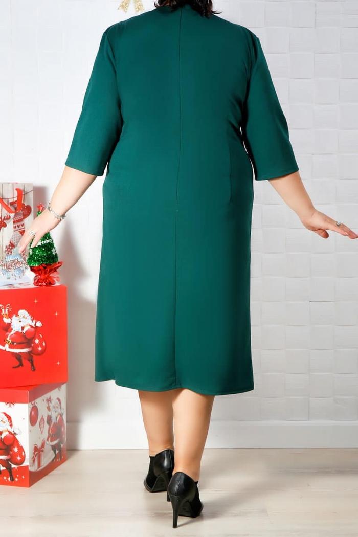 Rochie de zi Carla Verde Inchis