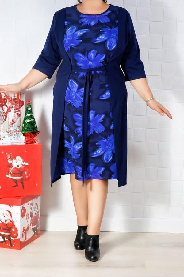 Rochie de zi Carla Bleumarin
