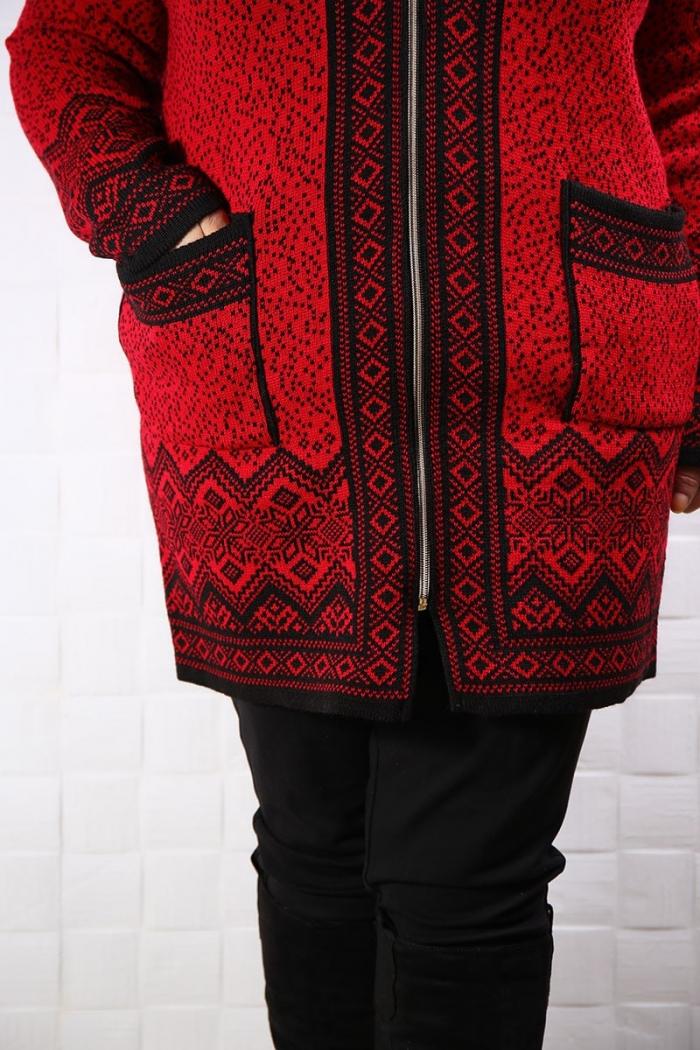 Cardiagan Tricotat Evian  Rosu 117