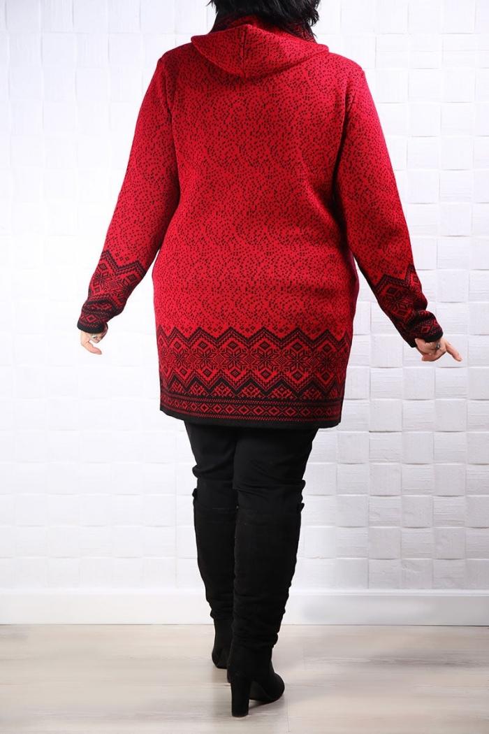Cardiagan Tricotat Evian  Rosu 118