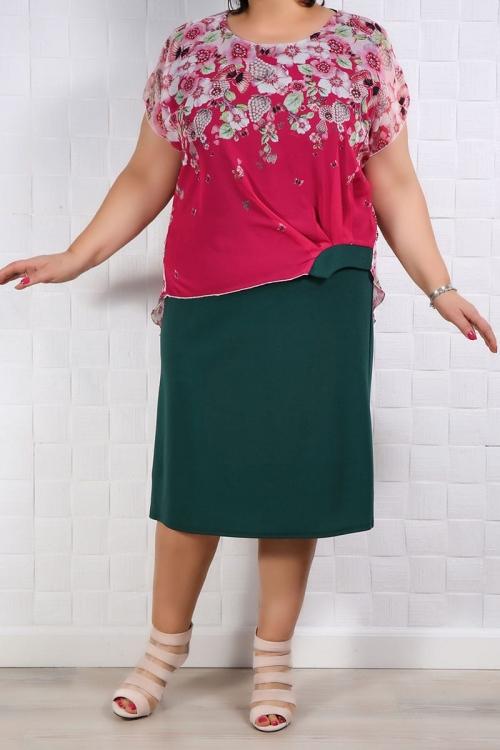 Rochie Eleganta Lia Roze Verde Rochii de Ocazie 84