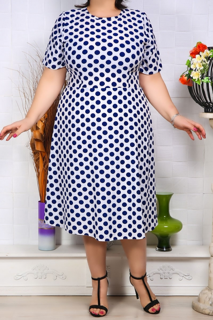 Rochie cu buline gloria Ivoir Perfect Fashion 1