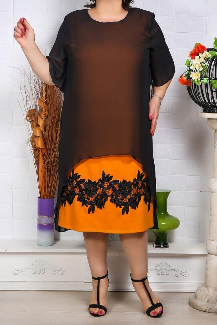 Rochie de Seara Sabrina Galben Perfect Fashion 10 1