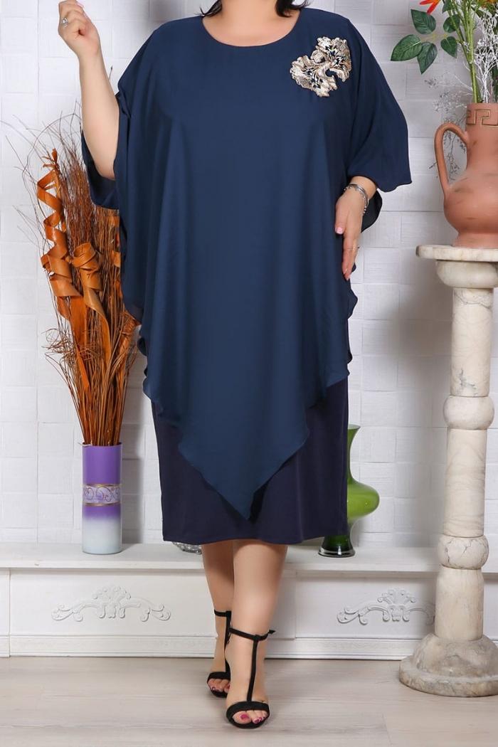 Rochie de ocazie Mirela Bleumarin Perfect Fashion 2