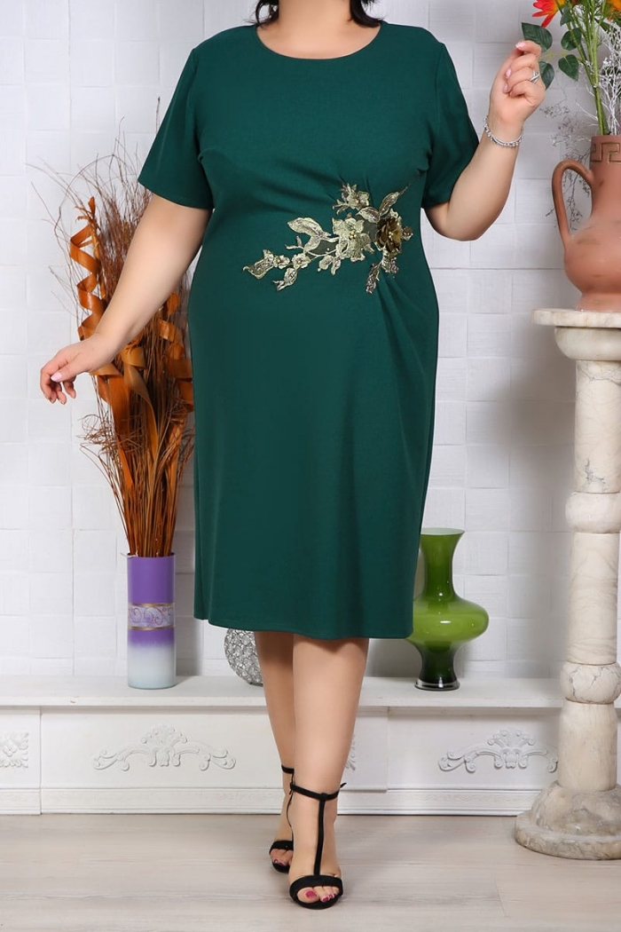 Rochie Eleganta Florenta Verde Perfect Fashion 28