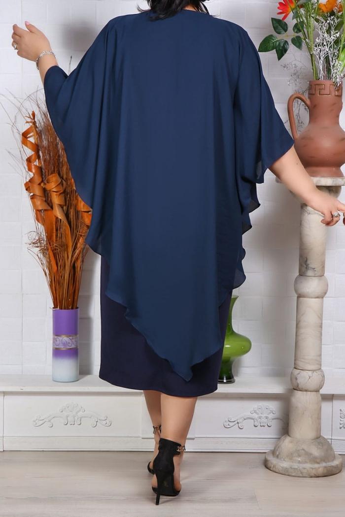 Rochie de ocazie Mirela Bleumarin Perfect Fashion 3