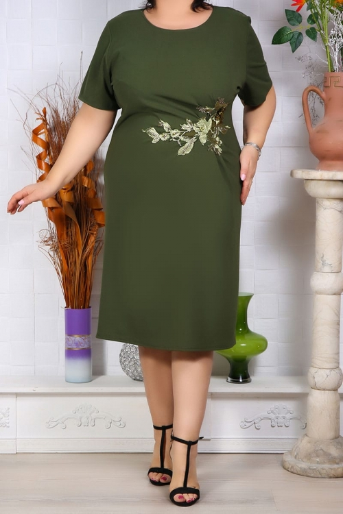 Rochie Eleganta Florenta Olive Perfect Fashion 32
