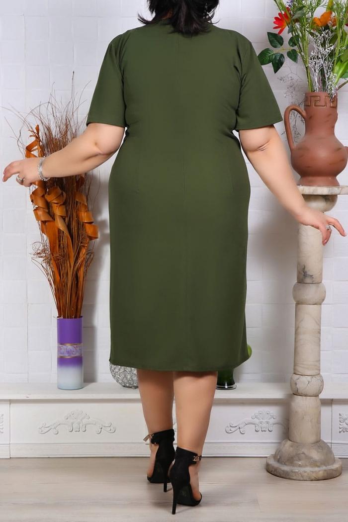 Rochie Eleganta Florenta Olive Perfect Fashion 33