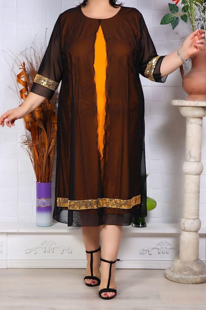 Rochie de Seara Graziela Galben Perfect Fashion 6