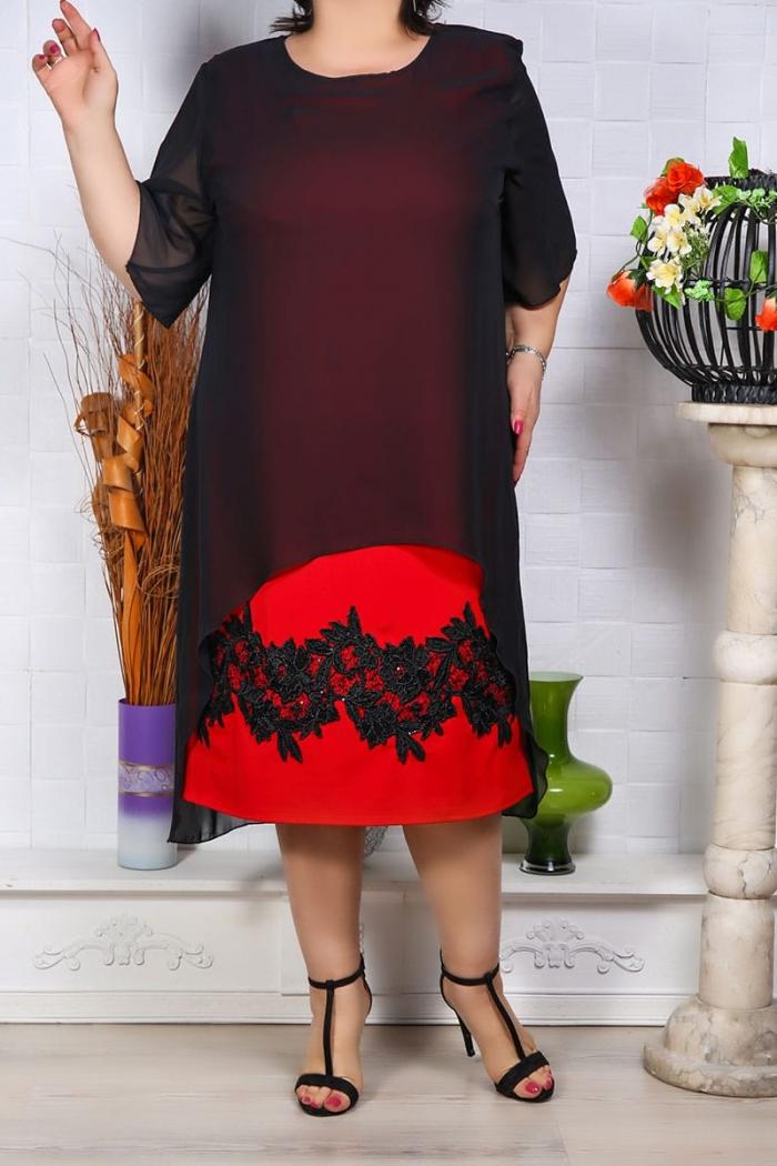 Rochie de Seara Sabrina Rosu Perfect Fashion 8 1
