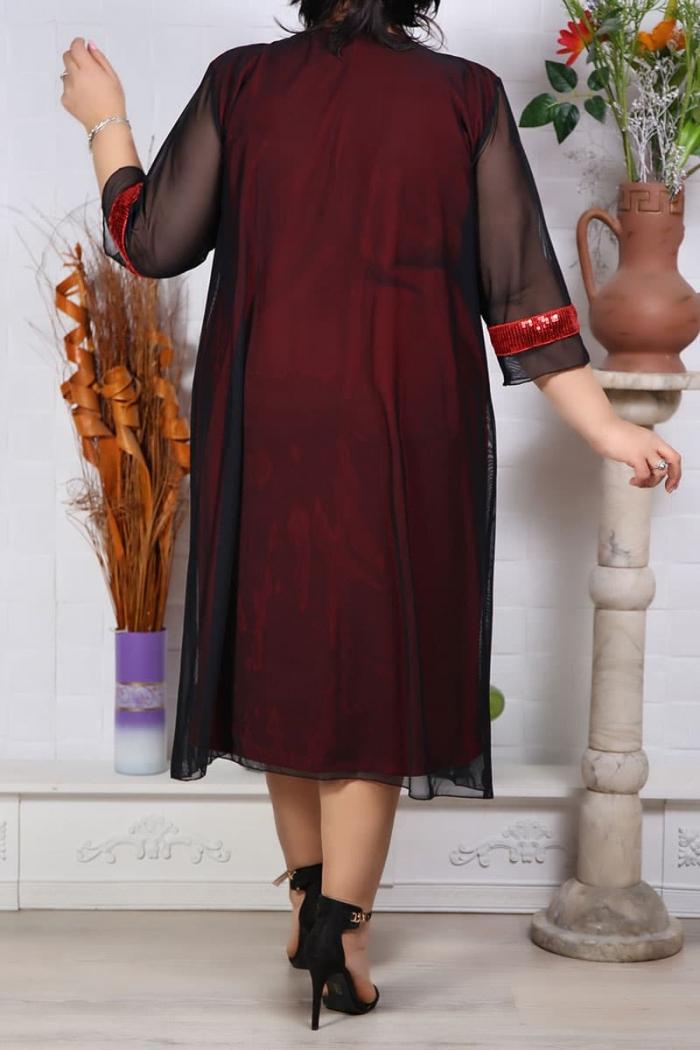 Rochie de Seara Graziela Rosu Perfect Fashion 9