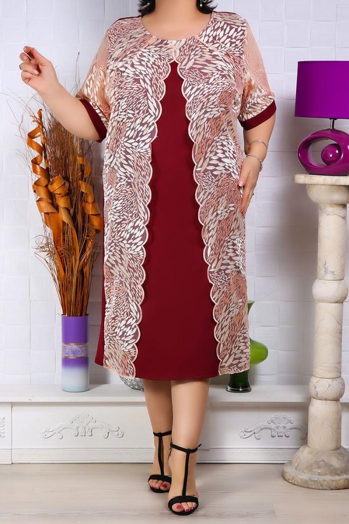 Rochie de ocazie Sindia Bordo Rochii Perfect Fashion 10