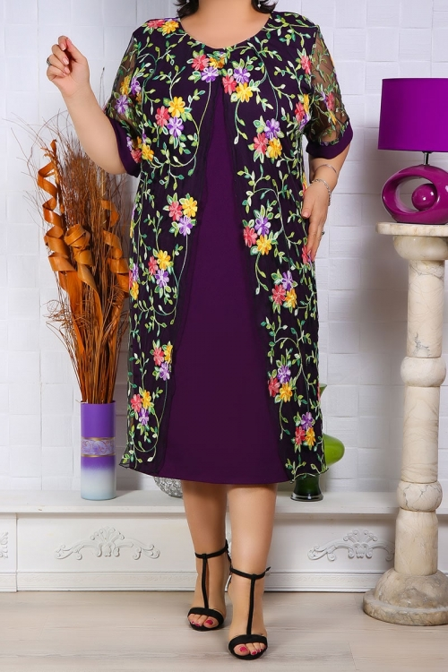 Rochie de ocazie Sindia Mov Pruna Rochii Perfect Fashion 12