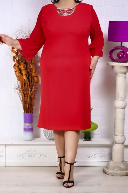 Rochie Herta cu accesoriu la decolteu Rochii Perfect Fashion 25