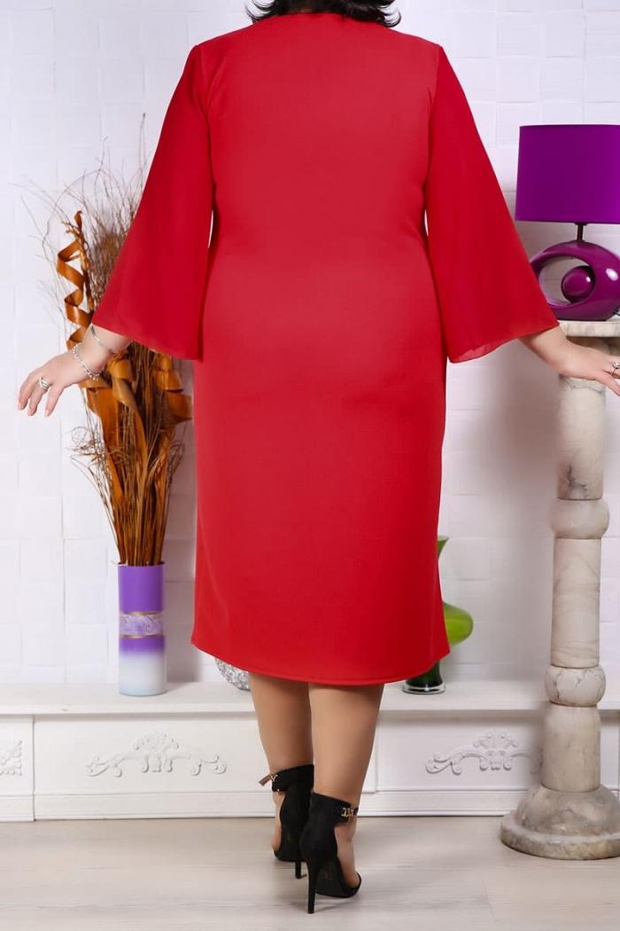 Rochie Herta cu accesoriu la decolteu Rochii Perfect Fashion 26