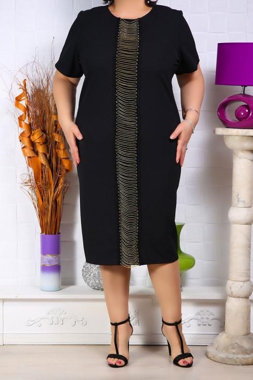 Rochie Hilda cu accesoriu vertical Rochii Perfect Fashion 31