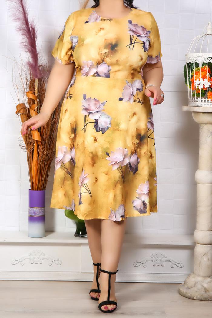 Rochie Eleganta Boemia Galben IMG 9573