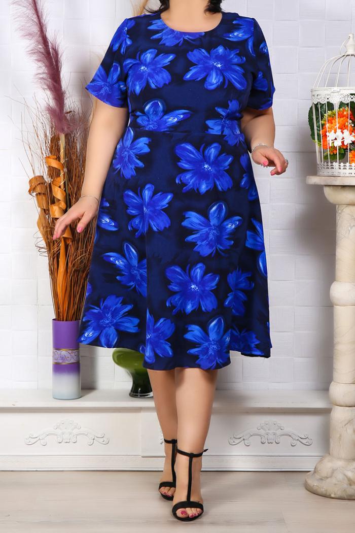 Rochie Eleganta Andora Floral Bleumarin IMG 9579